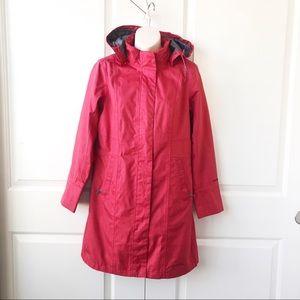 Eddie Bauer Weatheredge Rain Coat Hooded Trench